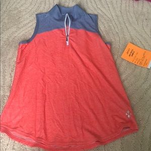 Peach and Blue Collared Jofit Tank